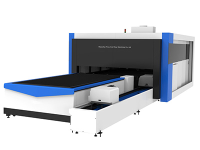 Fiber Laser Cutting Machine with Tube Cutting, Enclosed Type
