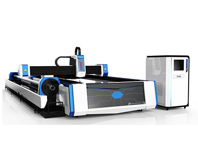 Fiber Laser Cutting Machine with Tube Cutting, Open-bed Type