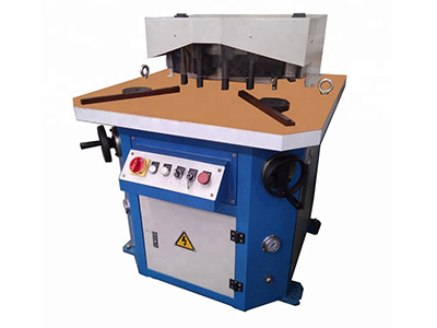 Hydraulic Corner Notching Machine, Variable Angle with Punch